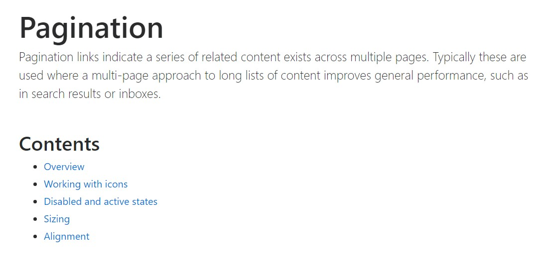 Bootstrap pagination official  documents