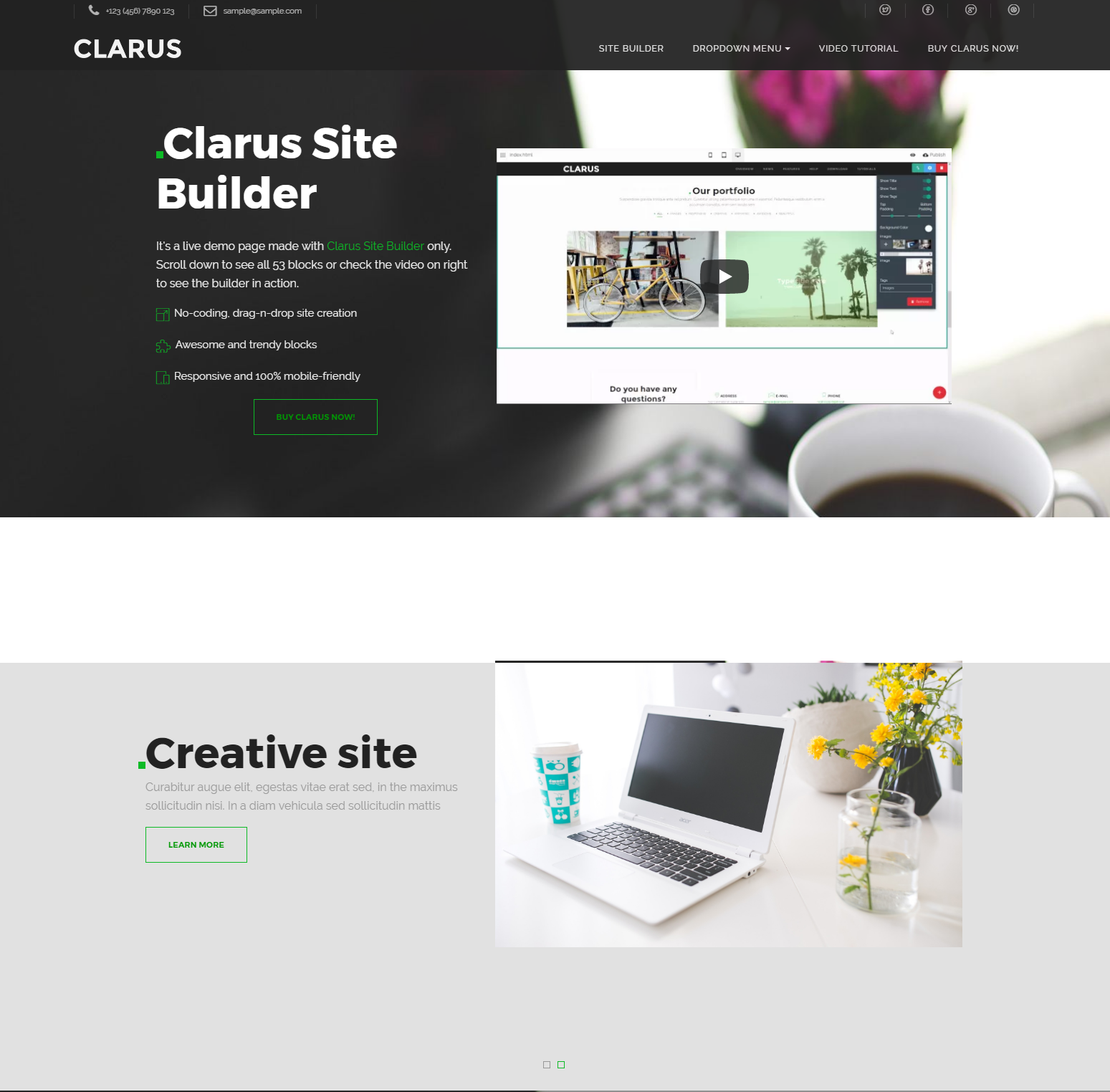 CSS3 Bootstrap Clarus Themes